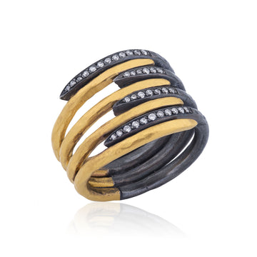 Eight Layer Zebra ring