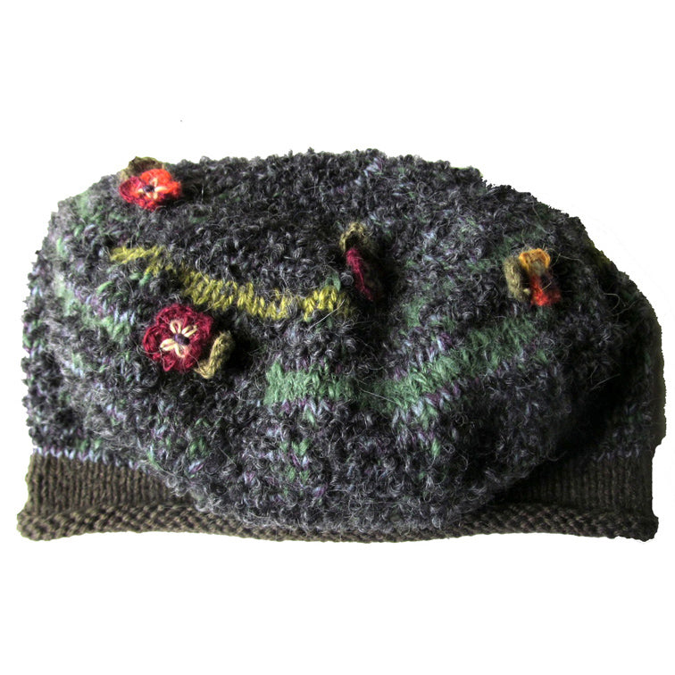 Antonia Beret- Green and Grey