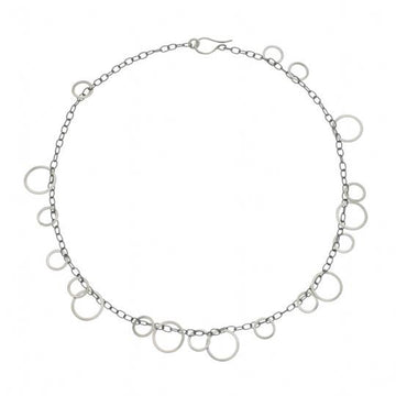 Silver Circle Bunches Necklace