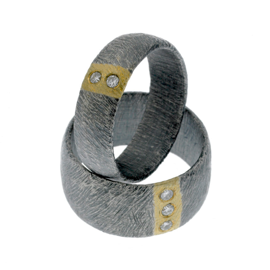 Carved Vertical Stripe 10mm Ring
