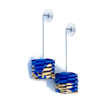 Ceresa Earrings- Cobalt Blue