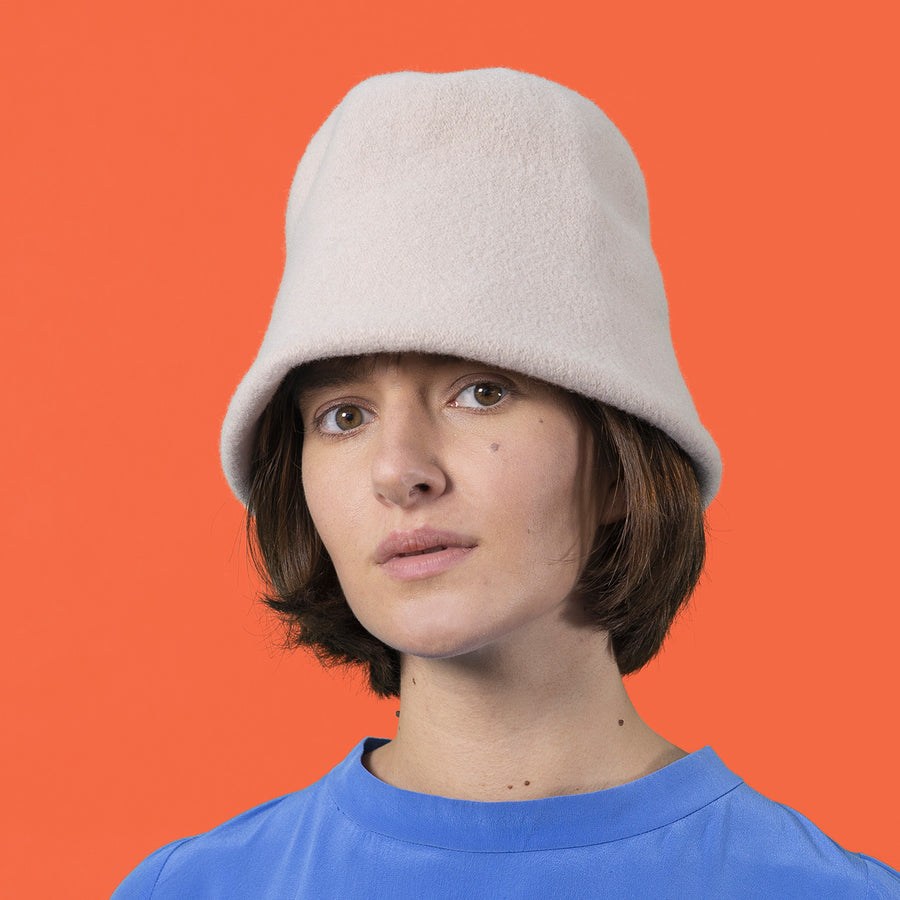 Merino Wool Clochard Hat