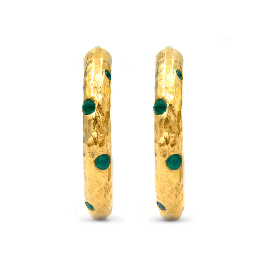 Emerald Gabby Hoop Earrings