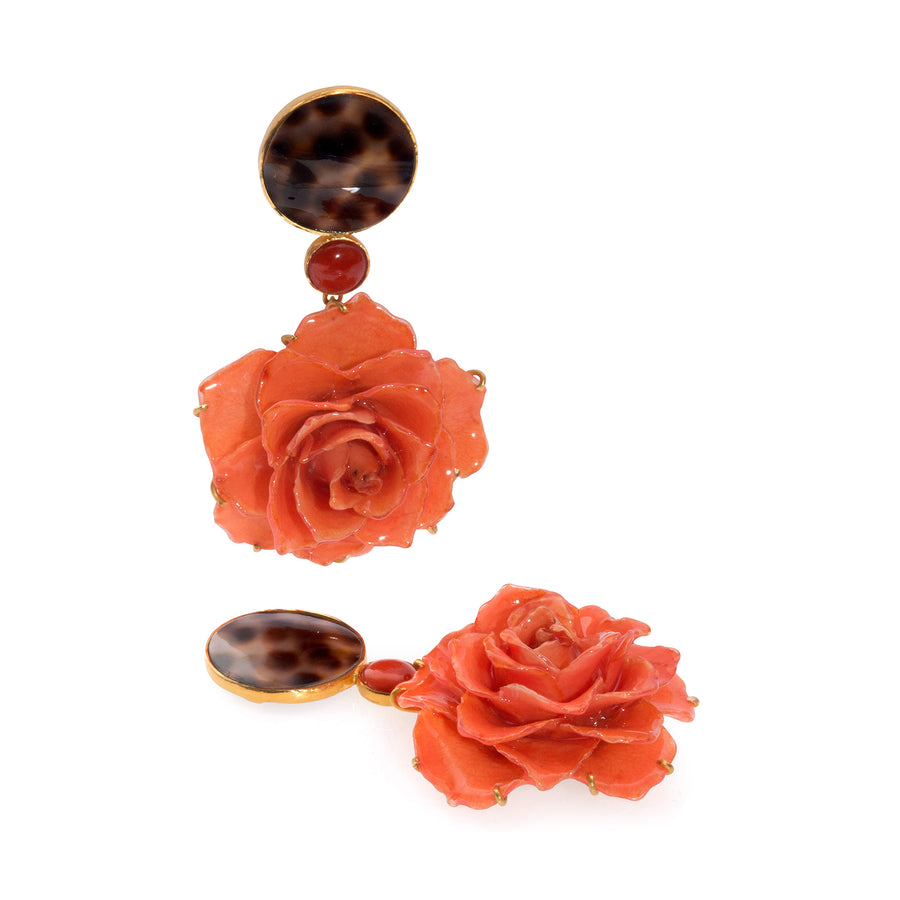 Gold Rush Rose Earrings