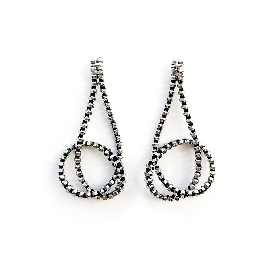 Knot Zipper Earrings