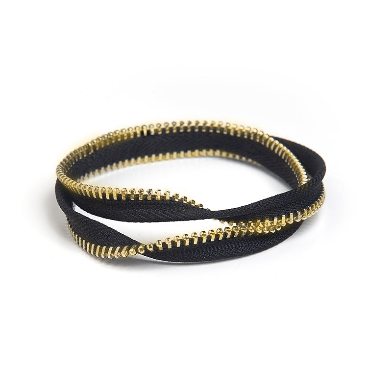 Double Mobius Bangle Zipper Bracelet