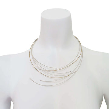 4 Strand Africa Necklace- Silver and Gold