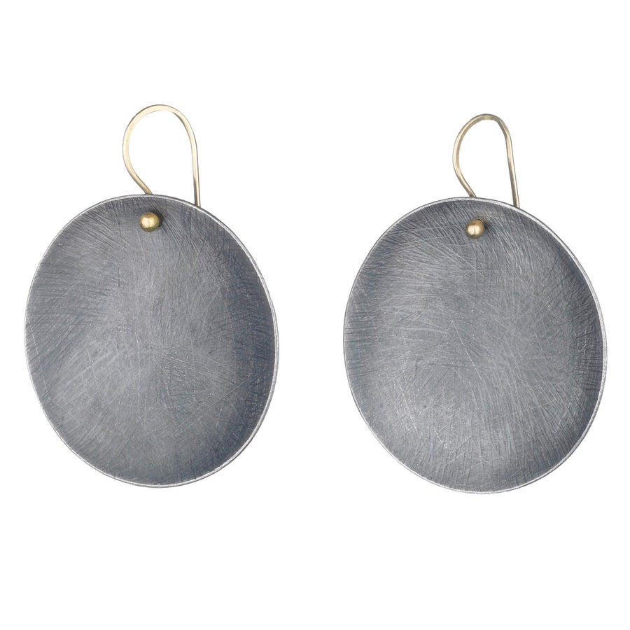 Large Carved Dome Earrings
