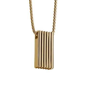 gold signature pendant necklace