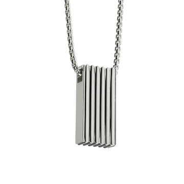 silver signature pendant necklace