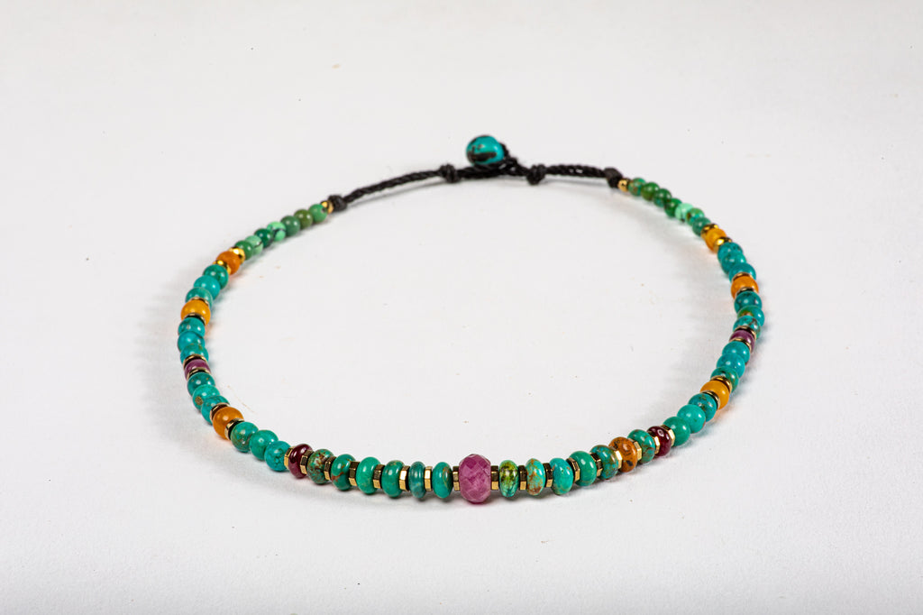 Children's Mala necklace - Ruby center
