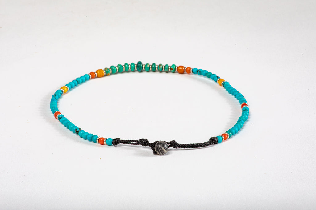 Children's Mala necklace - Turqouise center