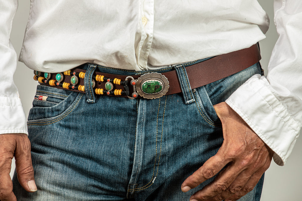 Royal Amber beaded belt