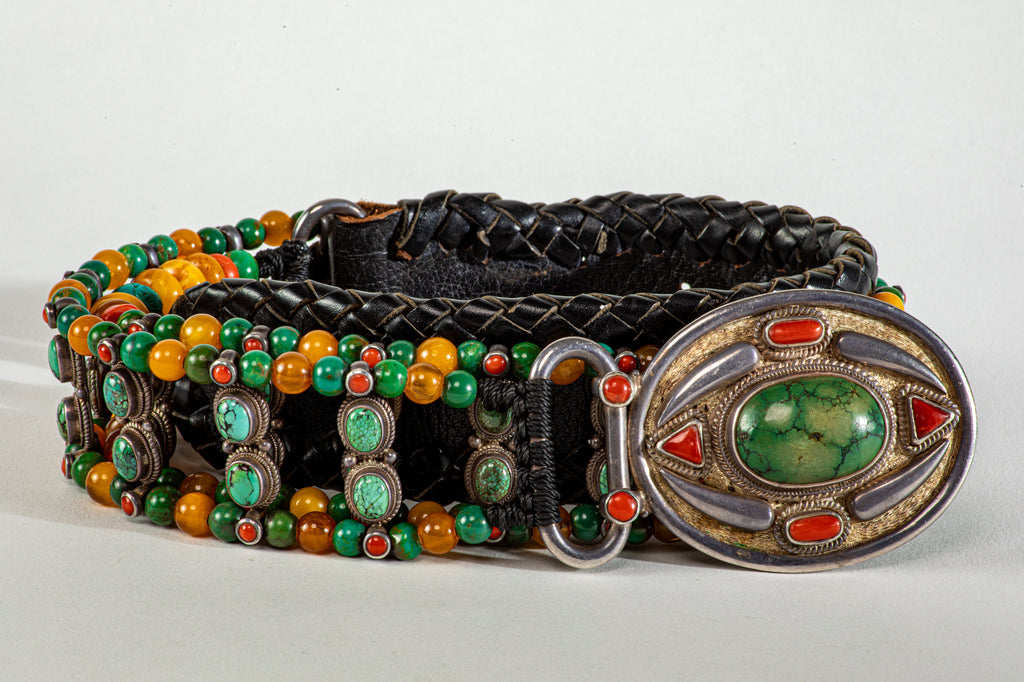 Royal Turqouise beaded belt