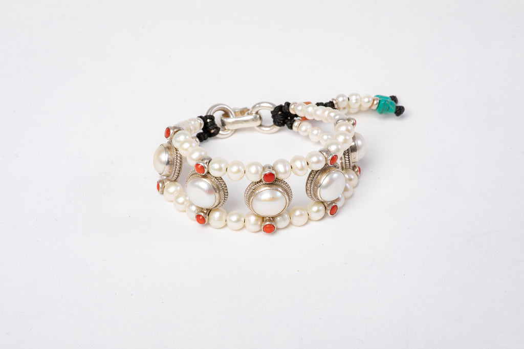 Pearl Setting Bracelet  with Pearls