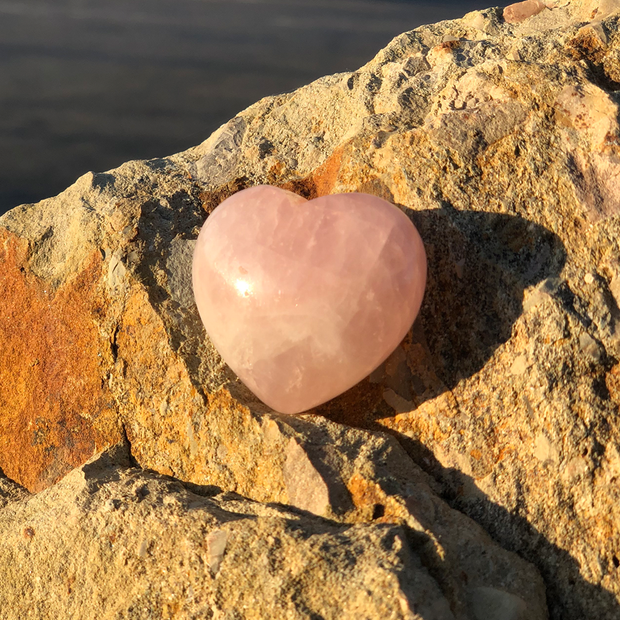 Signature Rose Quartz Heart