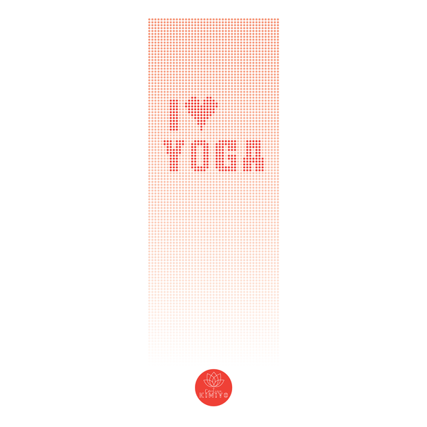 I LOVE YOGA TOWEL