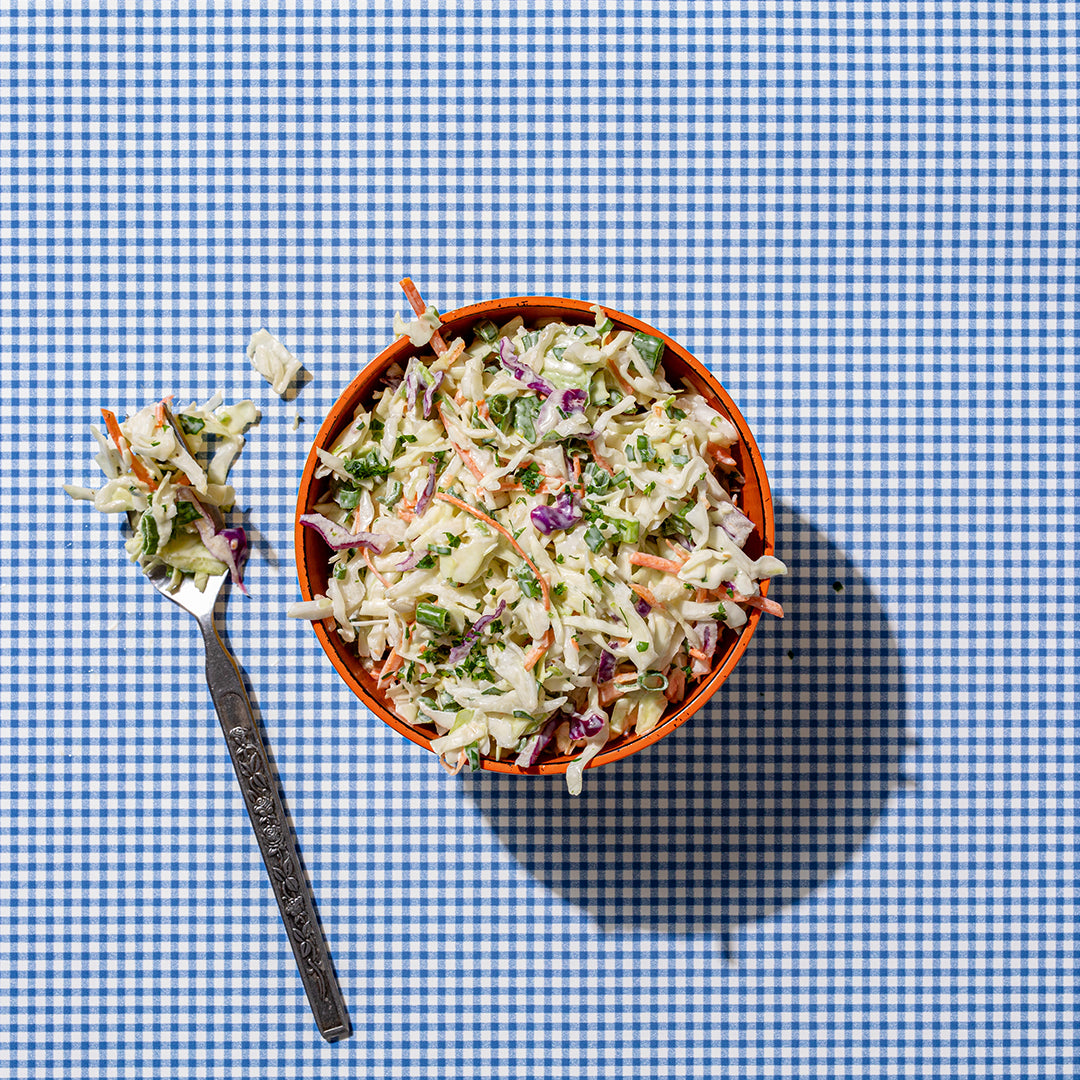 A side of coleslaw.
