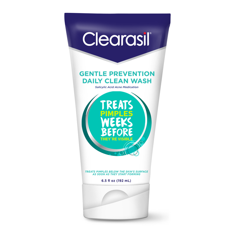 Clearasil Salicylic Acid Gentle Prevention Daily Acne Face Wash, Normal to Oily Skin, 6.5 fl oz