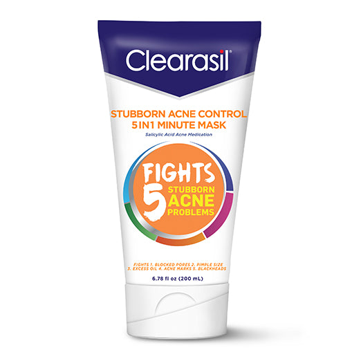 Clearasil Stubborn Acne One Minute Face Mask, 6.78 oz