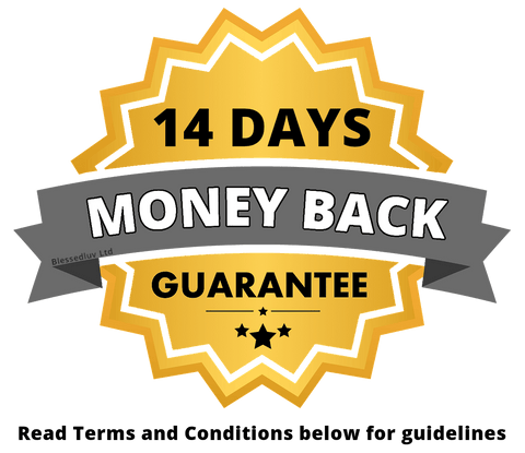 14 Days money Back Guarantee Badge -Blessedluv-Ltd