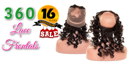 16 Years Sale 360 Lace Frontals