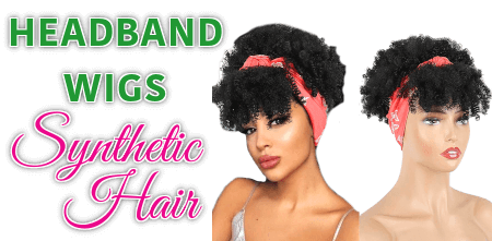 Headband Wigs Synthetic