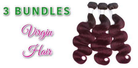 3 Bundle Coloured Hair