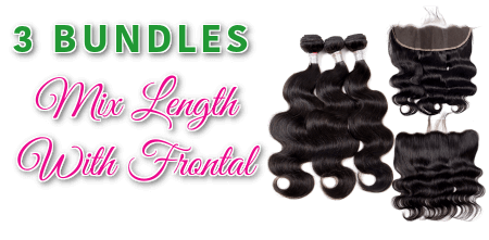 3 Bundles Mix Length With Frontal