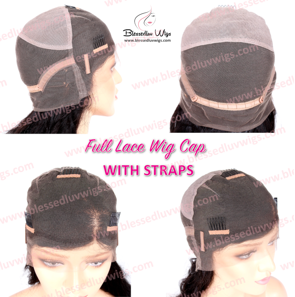 Full Lace Wig Cap With Straps