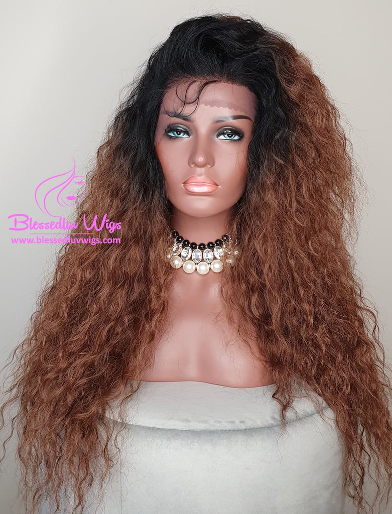 Jana - Ombré Synthetic Lace Front Wig-Brazilianweave.com-Brazilianweave.com