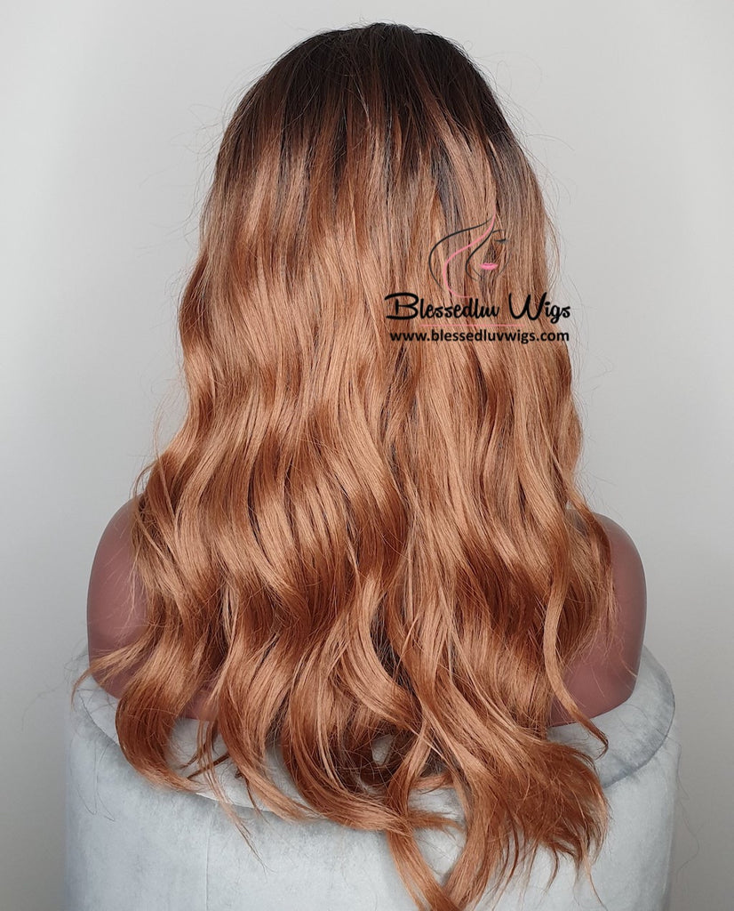 Ezra - Ombré #1b/honey Synthetic Lace Front Wig-Brazilianweave.com-Brazilianweave.com