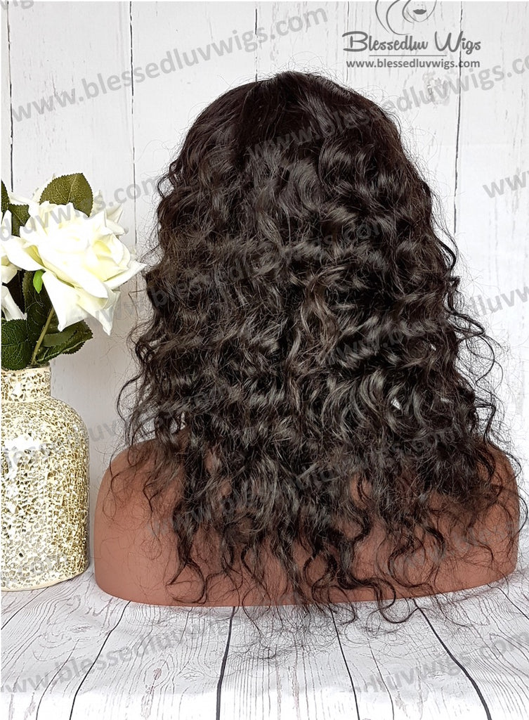 16 inch Loose curls Indian Remy Lace Front Wig- Instock-Brazilianweave.com-Brazilianweave.com