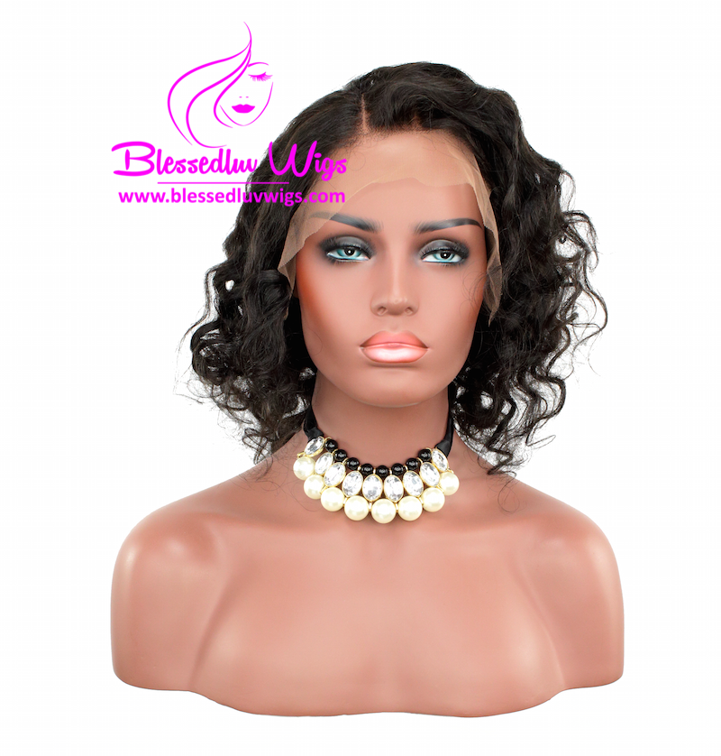 12 inch Loose Curls Brazilian Lace Front Wig-Brazilianweave.com-Brazilianweave.com