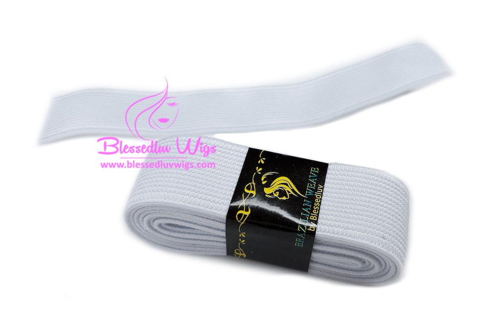 Elastic Small Band White-Black 1M-Brazilianweave.com-Brazilianweave.com