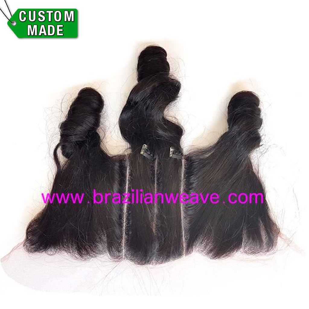 13×6 Inch Frontal Brazilian Loose Curl 3 Way Parting-Brazilianweave.com-Brazilianweave.com