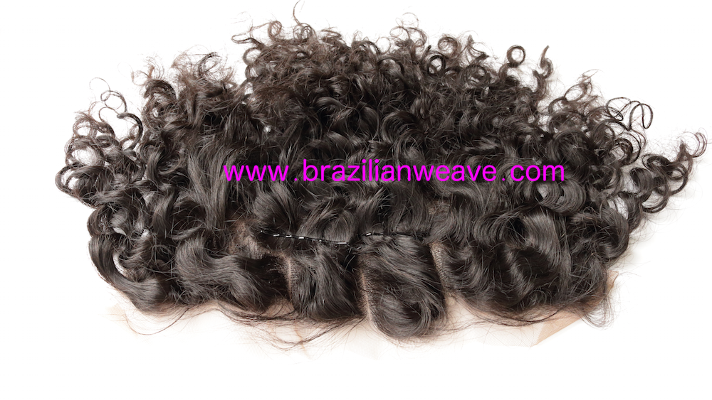 13x6 Inch Mongolian Frontal Deep Curls 3 Way Parting-Brazilianweave.com-Brazilianweave.com