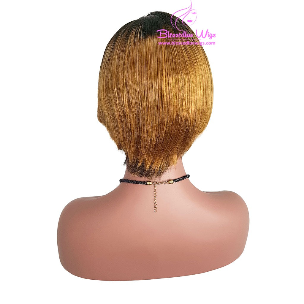 Pixie Cut Bob Wig - Easy Wear 1b/30-Brazilianweave.com-Brazilianweave.com