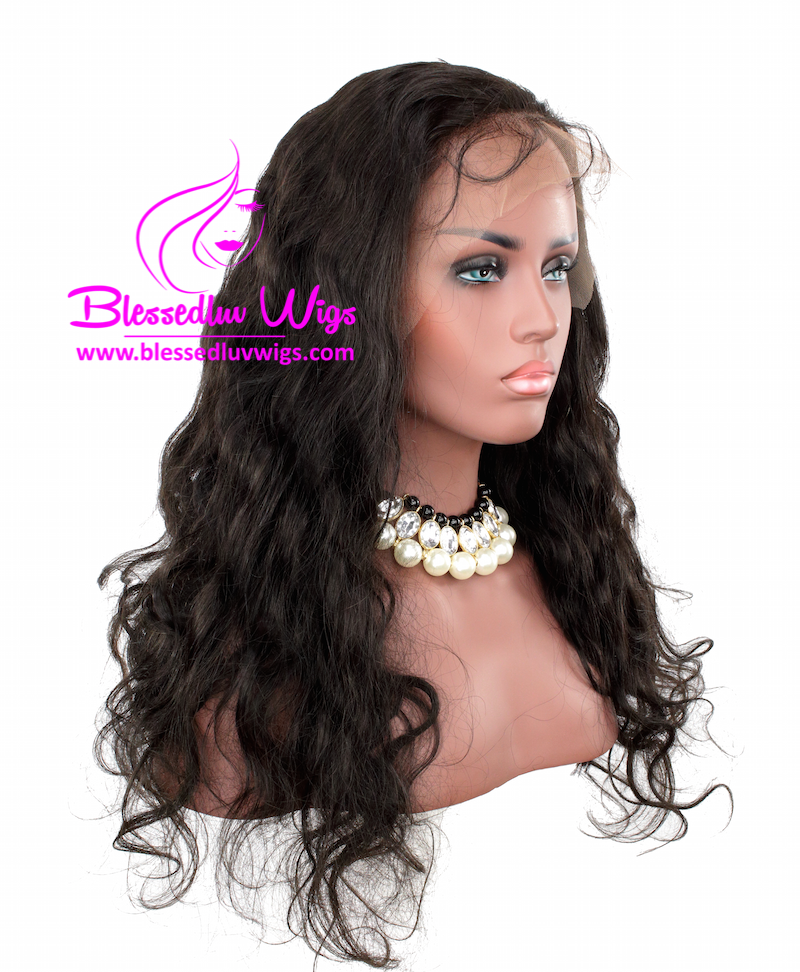 20 Inch Body Wave Indian Remy Full Lace Wig- 130% Density- Free Parting-Brazilianweave.com-Brazilianweave.com