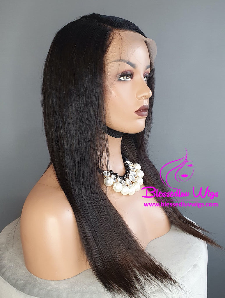 Kelly - Brazilian Lace Frontal Wig - two tone 1b & #1-Brazilianweave.com-Brazilianweave.com