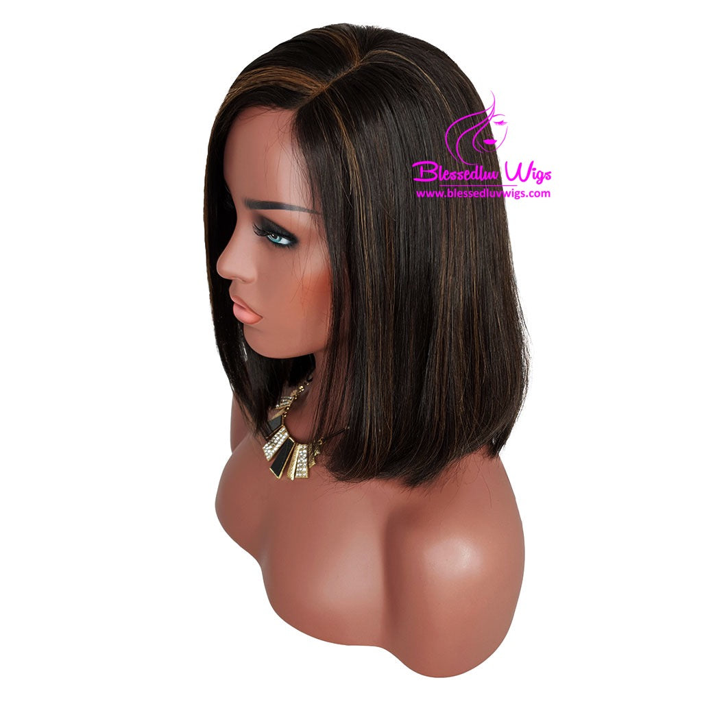 Hattie -1b/ 33 Highlights 30% Density Bob Lace Front Wig-Brazilianweave.com-Brazilianweave.com