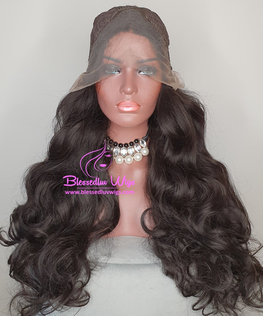 Marga - #1b Synthetic Lace Front Wig-Brazilianweave.com-Brazilianweave.com
