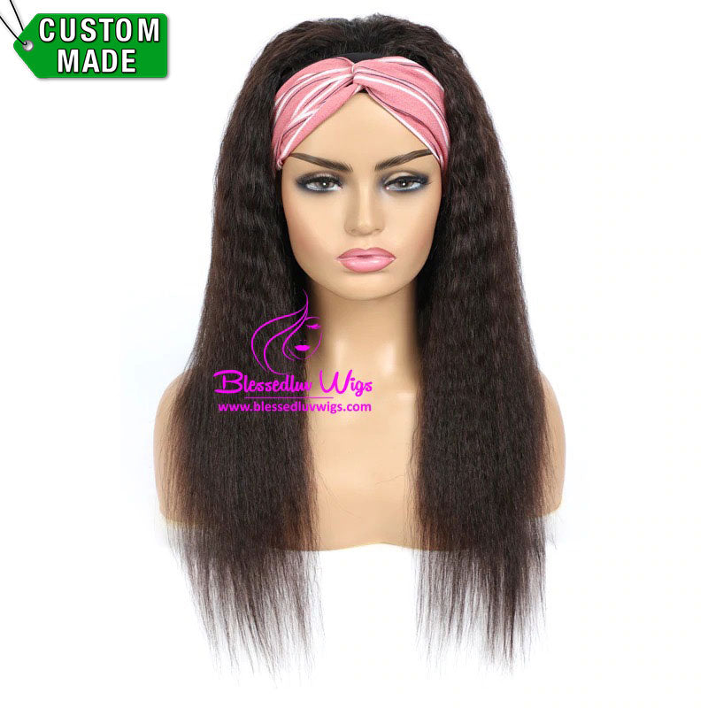 Camila - Headbands Brazilian Hair Yaki Straight-Brazilianweave.com-Brazilianweave.com