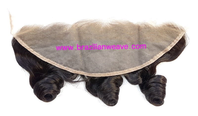 13 x 4 Inch Brazilian Lace Frontal Loose Curls-Brazilianweave.com-Brazilianweave.com