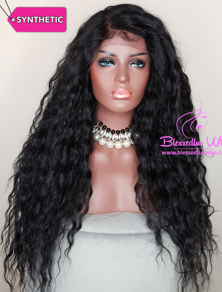Giana - #1b Synthetic Lace Front Wig-Brazilianweave.com-Brazilianweave.com