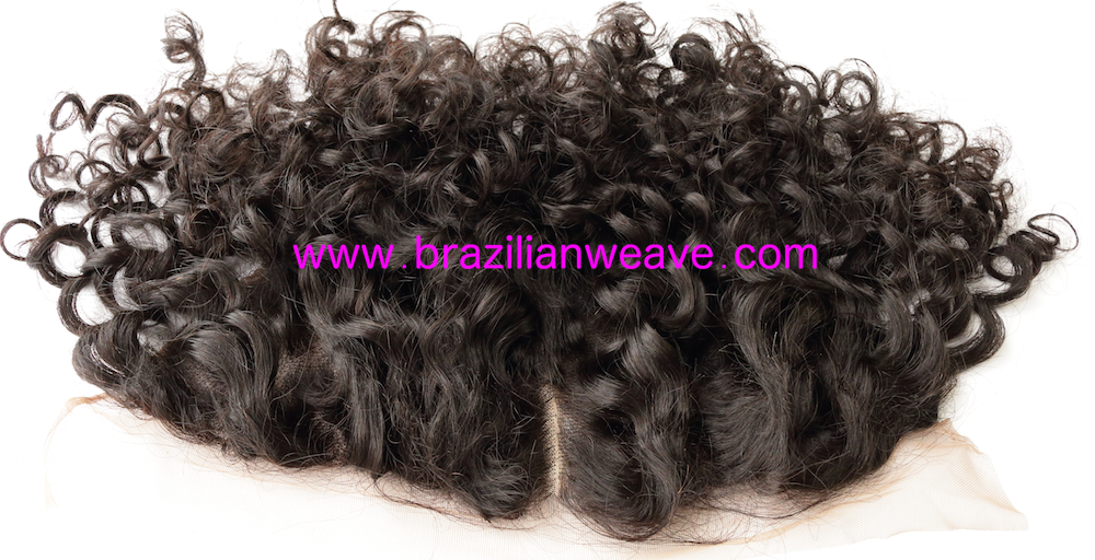 13x6 Inch Mongolian Frontal Deep Curls Diamond (centre) Parting-Brazilianweave.com-Brazilianweave.com