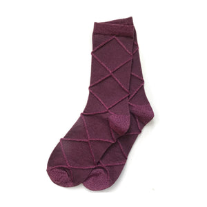 Diamond Socks, Aubergine