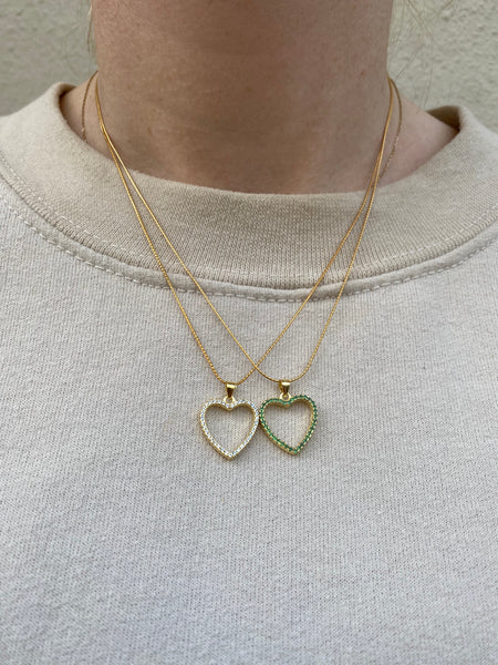 Rainy Heart Grande Necklace