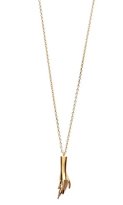 Lipstick Necklace - Gold