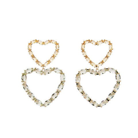 Heartbeat Crystal Stud - Gold
